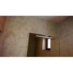 Koupelna stěrka Magic Touch, zrcadlo Duravit.jpg